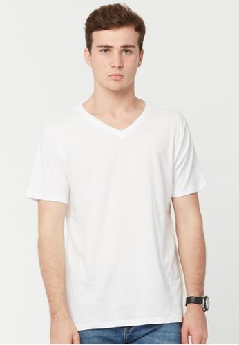Rip Curl Plain V Neck Men Tee - White