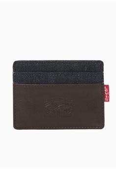 e479712e0abdbc Levi's brown Levi's Denim & Leather Card Case Men (Brown) 42C63AC5247752GS_1