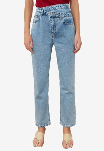 Trendyol blue High Waist Jeans 8EA0AAAF6656F7GS_1