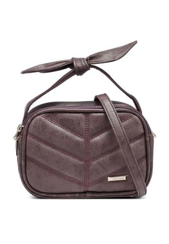 Verchini purple Sling Bag With Bow DC37FAC62D2F03GS_1