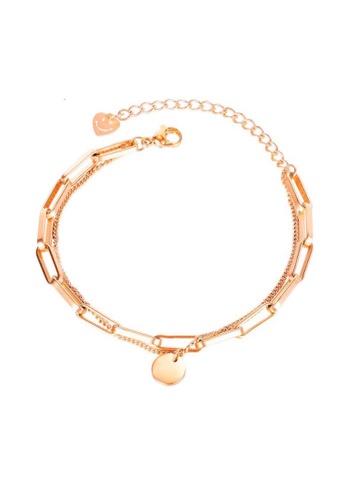 CELOVIS gold CELOVIS - Lukas Pendant Multi-Chain Bracelet in Rose Gold 9180FAC59243DBGS_1
