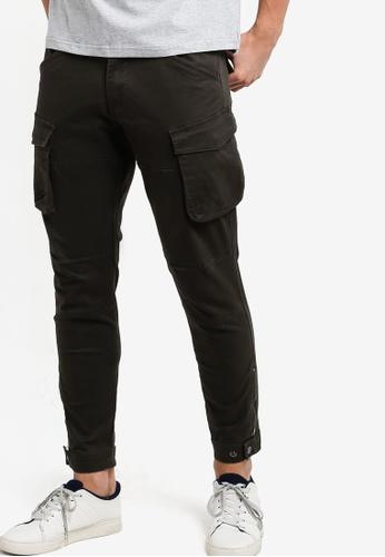 SPARROW GREEN grey Uma Cargo Zipp Cuff Jogger Pants SP065AA04LKDMY_1