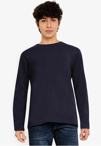 OVS blue Plain Sweatshirt F8616AAE4120D9GS_1