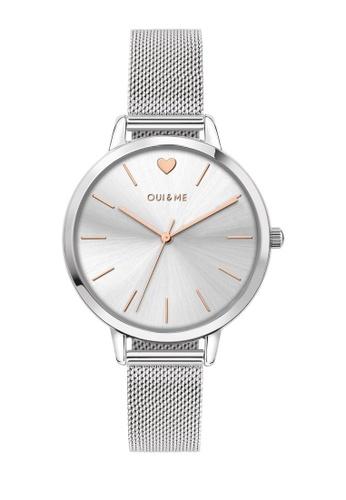 Oui & Me silver Grande Amourette Quartz Watch Silver Metal Band Strap ME010022 50A78AC2598168GS_1