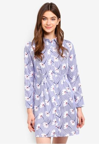 Something Borrowed blue Shirt Dress With Smocking Details 3DB3AAA7EB0B96GS_1