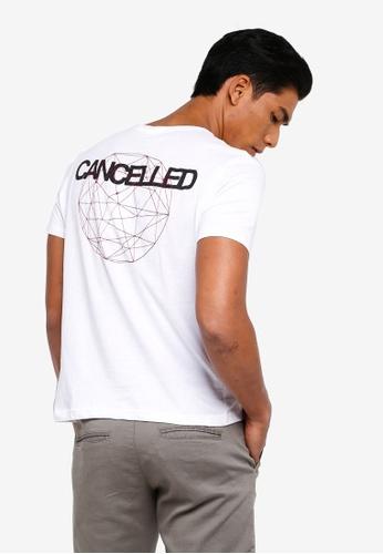 OVS 白色 刺繡T恤 065F9AADA4E1D1GS_1
