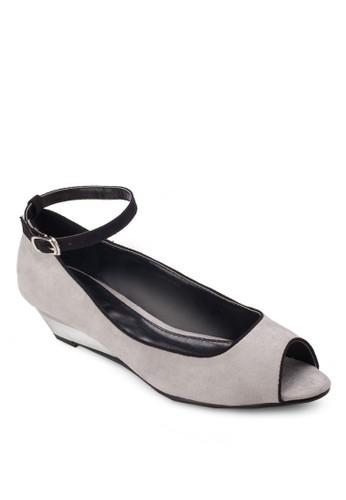 露趾繞踝楔型跟鞋, 女鞋esprit台灣outlet, 魚口楔形鞋