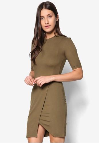 裹飾裙擺短袖連esprit 面試身裙, 服飾, 洋裝