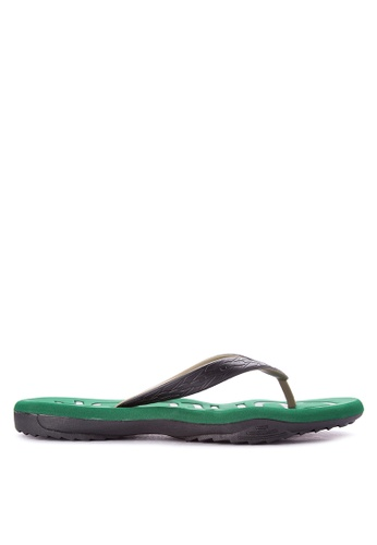 Krooberg black and green Contour 7 Flip Flops KR692SH0K3EOPH_1