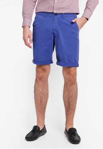 Electro Denim Lab 藍色 Press Printed Shorts EL966AA0SPCAMY_1