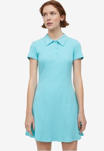 H&M green and blue Tennis Dress C8C53AA9A28215GS_1