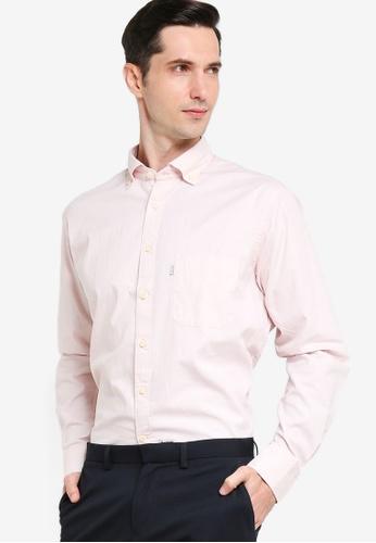 Sacoor Brothers pink Men's Casual Slim Fit Shirt 73AA8AAE08C4FFGS_1