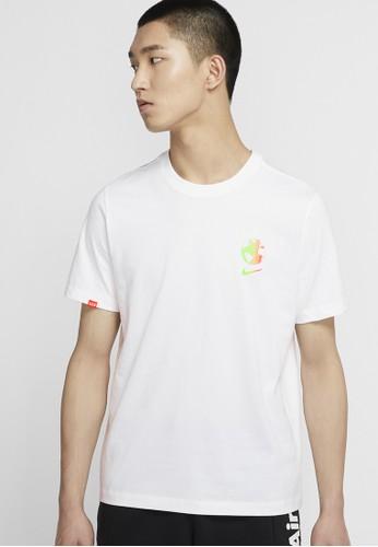 Nike white Nike-Sportswear Worldwide Globe T-Shirt 2F5CEAA89B23E9GS_1