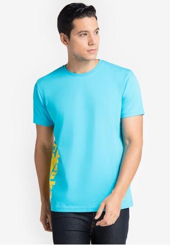 Onitsuka Tiger blue Graphic T-Shirt 68A79AA52B716FGS_1
