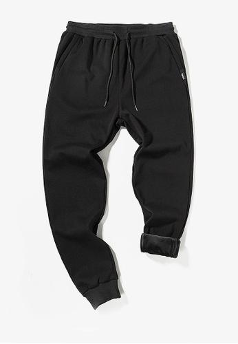 Twenty Eight Shoes black VANSA  Colorblock Plush Casual Pants  VCM-P8821V 93041AAD7DDB5CGS_1