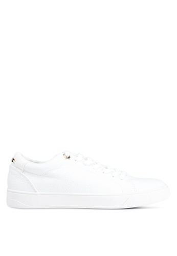 TOPSHOP 白色 Curly Lace Up Trainers 2B542SH1F111CBGS_1