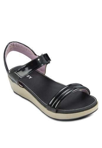 一字帶zalora taiwan 時尚購物網厚底涼鞋, 女鞋, 鞋