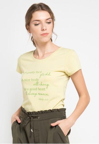 MEIJI-JOY yellow and multi Pretty Face short sleeve Tshirt ME642AA0VS9WID_1