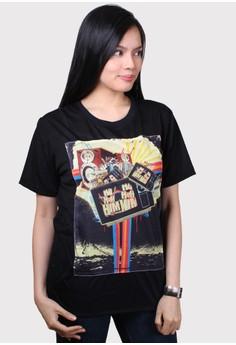 Patchwork Retro Style T-Shirt