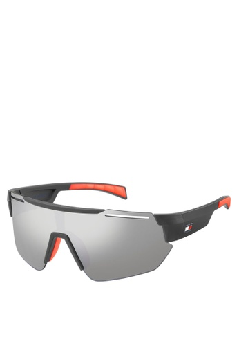 Tommy Hilfiger grey and silver 1721/S Sunglasses 67804GLD50F2E8GS_1