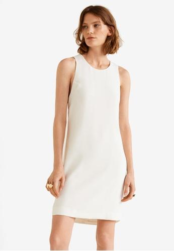 Mango white Print Bow Dress DC40CAA4018C78GS_1