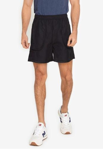 ZALORA BASICS black Flap Pocket Shorts 6A209AAB14CDF6GS_1