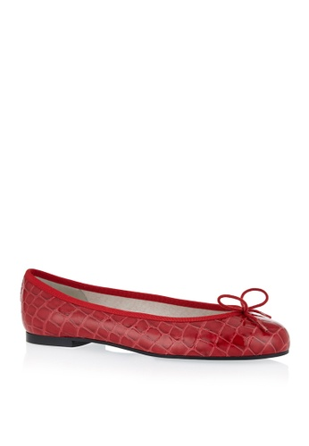 Covet red French Sole Henrietta Ballet Flats CO331SH07EAQPH_1