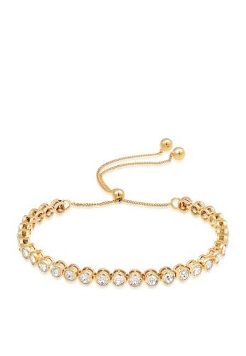 ELLI GERMANY gold Glamorous Adjustable Ball Shutter Bracelet With Swarovski Crystals CD834ACF77C858GS_1