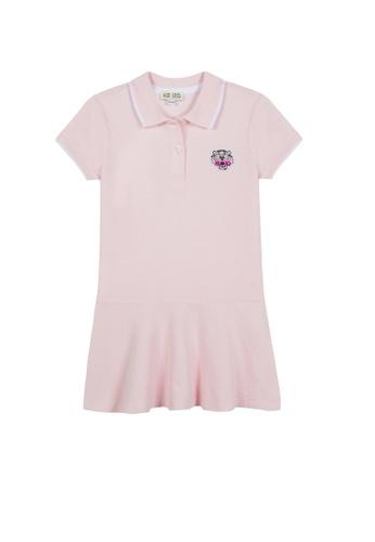 KENZO KIDS pink KENZO GIRLS POLO DRESS CADDAKA978E8FBGS_1