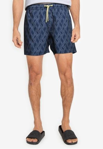 Springfield blue Printed Swim Shorts EEFFDUSFCE7A15GS_1