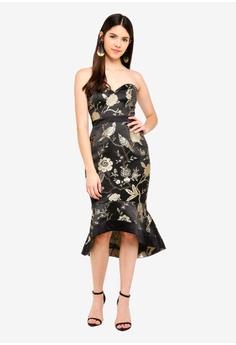 de6e43b1540b7 Lipsy black Oriental Jacquard Bandeau Dress 7D40AAAFE2E481GS_1