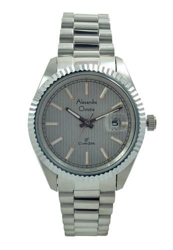 Alexandre Christie silver Alexandre Christie Jam Tangan Wanita - Silver Grey - Stainless Steel - 5004 LDBSSGR AL709AC53VISID_1