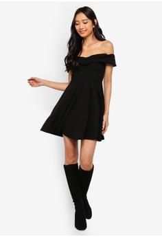 5a638f645fc 36% OFF MISSGUIDED Wrap Bardot Skater Dress HK  239.00 NOW HK  151.90 Sizes  6 8 10