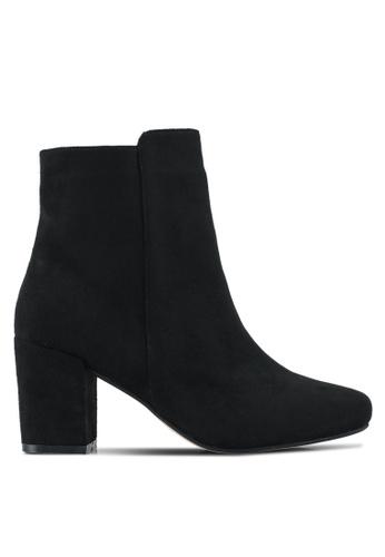 ZALORA 黑色 Chunky Heeled Ankle Boots C94B9SH55B34E1GS_1