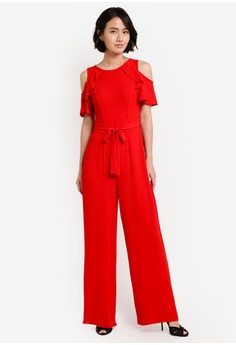 buy red jumpsuit breeze clothing