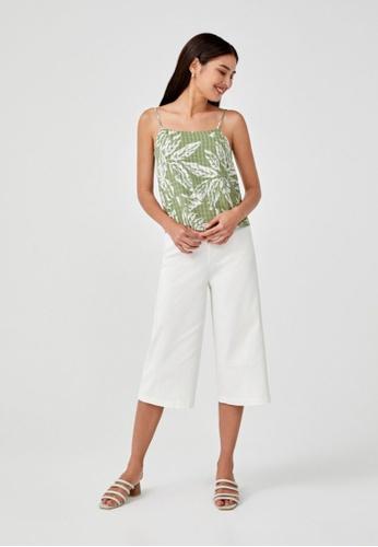 Love, Bonito green Ragine Printed Camisole Top 8EEA0AA29529E8GS_1