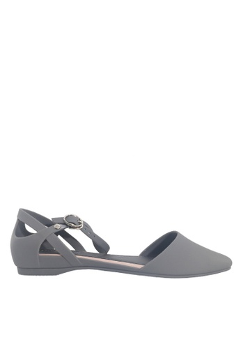 Twenty Eight Shoes grey Pointed Ankle Strap Jelly Flats VR5139 898F8SHF0CDFA0GS_1