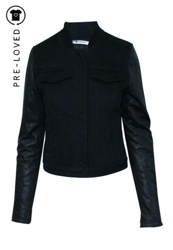Alexander Wang black Pre-Loved alexander wang Black Jacket with Leather Sleeves F5855AAA99A17EGS_1