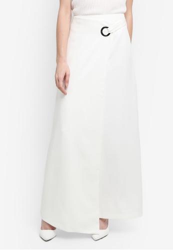 Zalia white Eyelet Wrap Skirt F7D39AAE3DC5C4GS_1