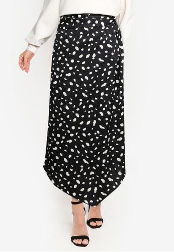 Vero Moda black Calina HIgh Waisted Tie Skirt 96781AA7D7EA15GS_1