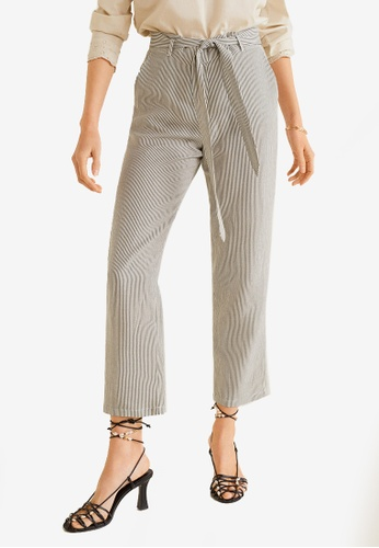 competitive price search for official large discount Striped Linen-Blend Trousers