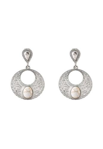 niko and ... grey Metallic Earrings 23F27ACC628617GS_1