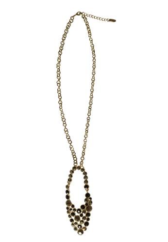 Pretty2u Glamorous Black Rhinestones Necklace PR716AC77SKSMY_1