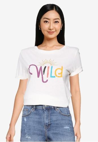 Springfield white Believe T-Shirt BA74BAA0EA8E35GS_1