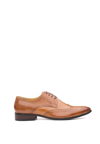 Kings Collection brown Hillson Brogue Lace Up Shoes KI877SH66HEJPH_1