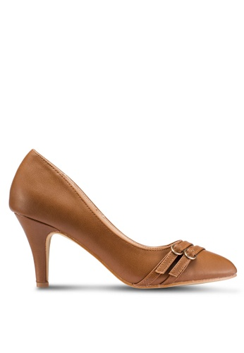 Carlton London 褐色 Strappy Court Heels 44E9BSHCF6B1BBGS_1