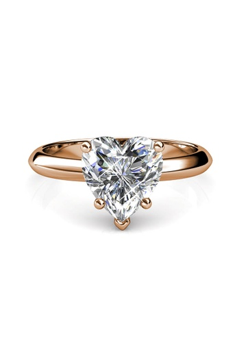 Her Jewellery gold Belle Heart Ring (Rose Gold) - Made with premium grade crystals from Austria DED70ACAD31A25GS_1