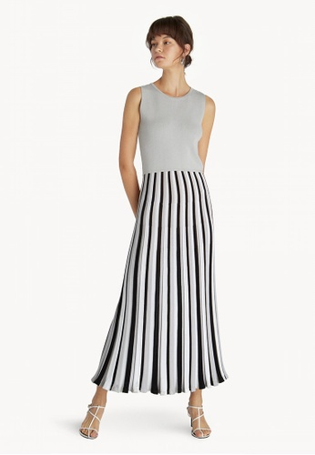 457939563854b Pomelo grey Premium Maxi Sleeveless Striped Dress - Light Grey  A82EDAABFBEB47GS 1