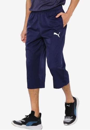 Puma navy Active Woven 3/4 Men's Sweatpants 1D10FAA94B0E62GS_1