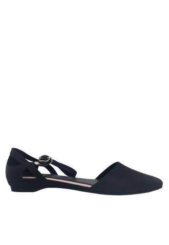 Twenty Eight Shoes 黑色 尖頭中空果凍膠平底鞋 VR5139 A5163SH14FDA64GS_1